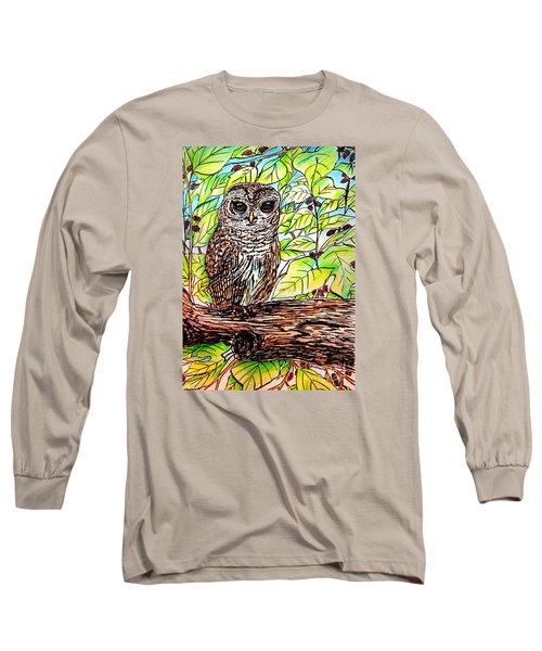 Give A Hoot Long Sleeve T-Shirt by Patricia L Davidson