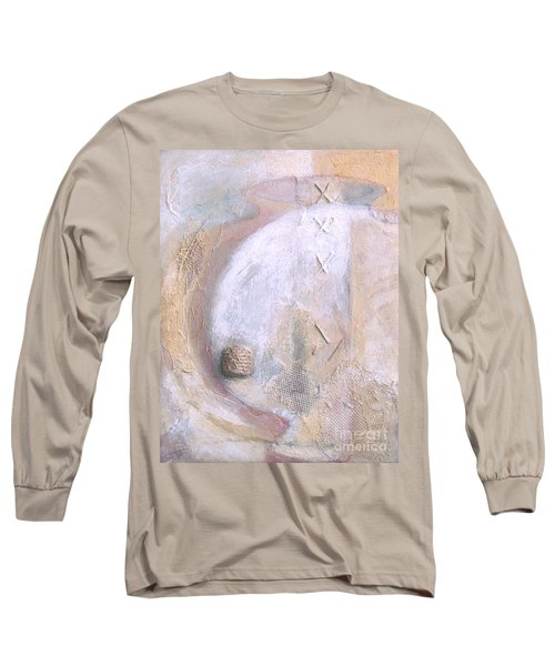 Long Sleeve T-Shirt featuring the painting Give And Receive by Kerryn Madsen-Pietsch