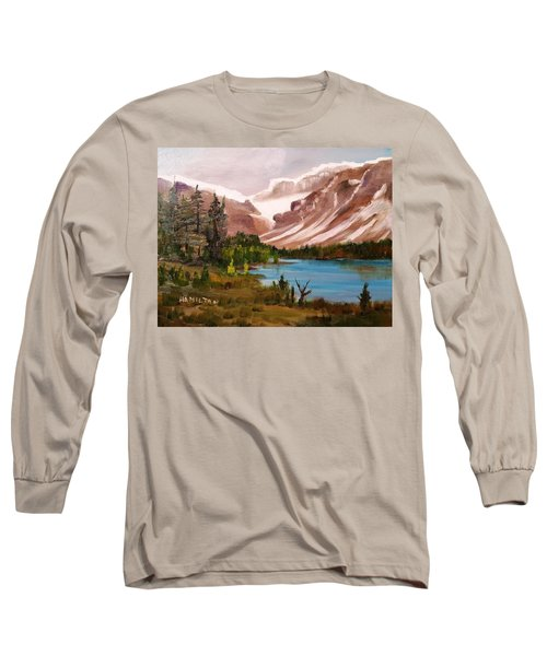 Glacier Lake Long Sleeve T-Shirt by Larry Hamilton