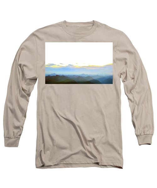 Glacier Peak At Sunrise Long Sleeve T-Shirt