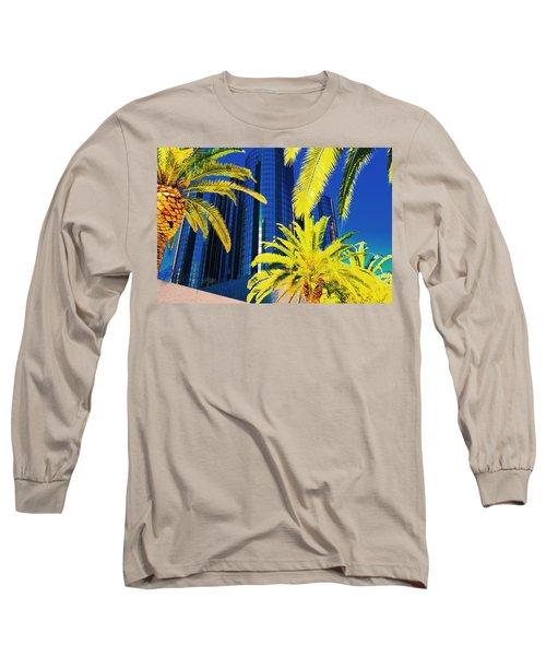 Glass And Palms Long Sleeve T-Shirt by Joe Burns