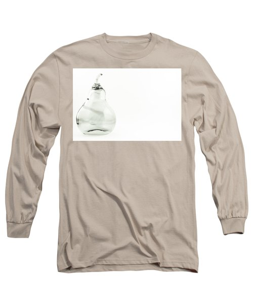 Glass Pear In Black And White Long Sleeve T-Shirt