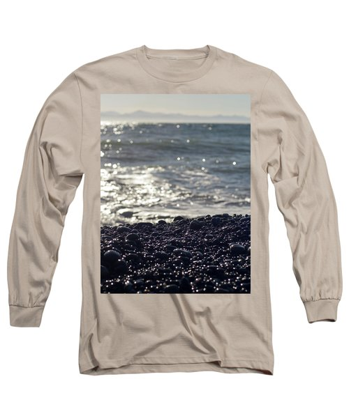 Glistening Rocks And The Ocean Long Sleeve T-Shirt