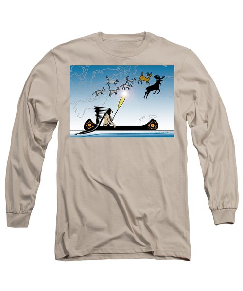 Glooscap Creates The West Isles Long Sleeve T-Shirt