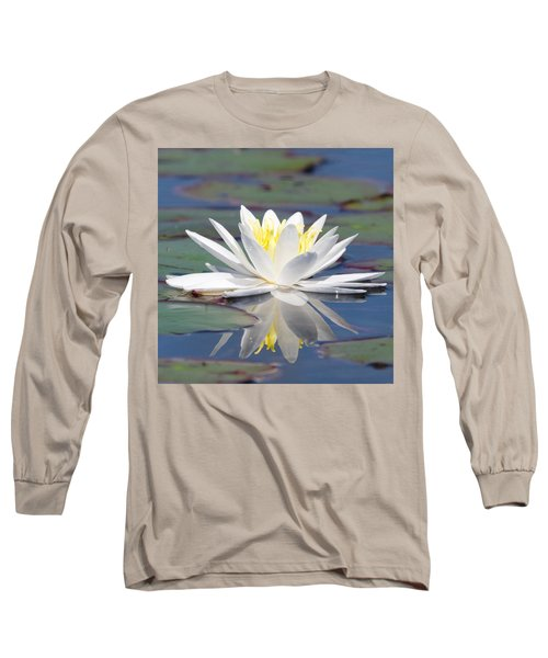 Glorious White Water Lily Long Sleeve T-Shirt