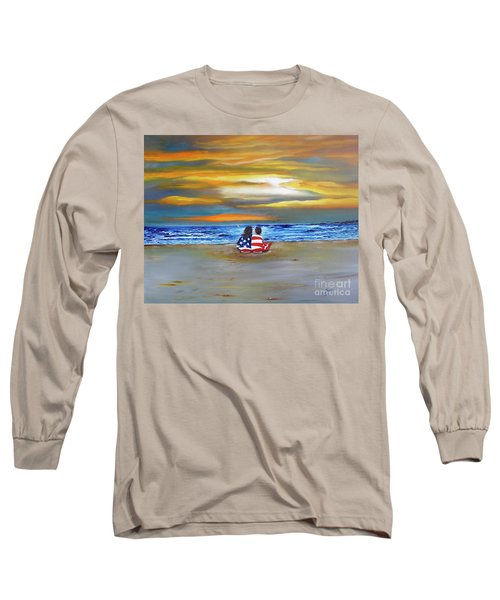 Long Sleeve T-Shirt featuring the painting Glory by Barbara Hayes