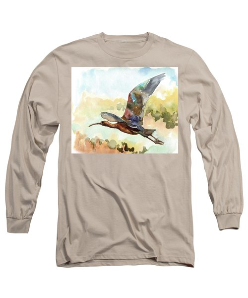 Glossy Ibis Long Sleeve T-Shirt