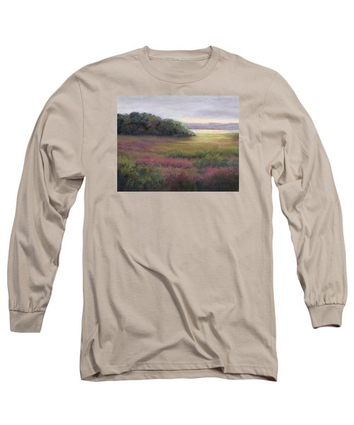 Long Sleeve T-Shirt featuring the painting Glow On Gilsland Farm by Vikki Bouffard