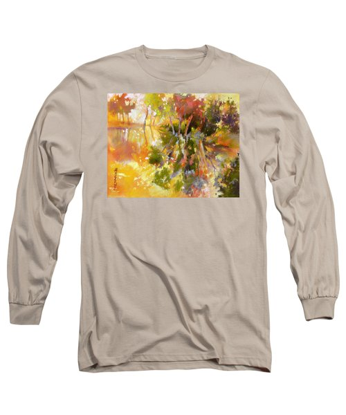Long Sleeve T-Shirt featuring the painting Glow by Rae Andrews