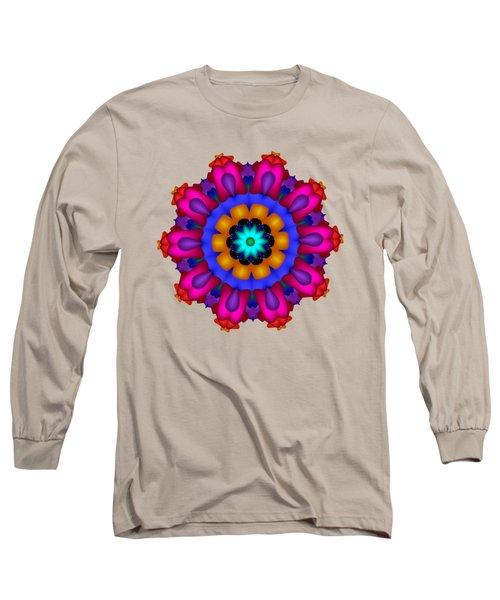 Glowing Fractal Flower Long Sleeve T-Shirt