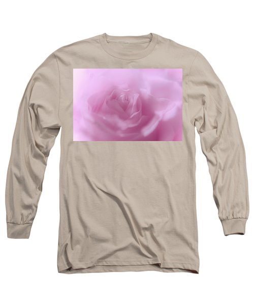 Long Sleeve T-Shirt featuring the photograph Glowing Pink Rose by Jenny Rainbow
