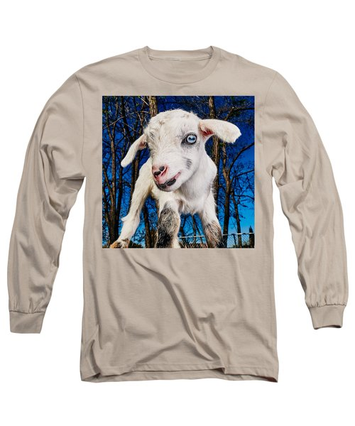 Goat High Fashion Runway Long Sleeve T-Shirt