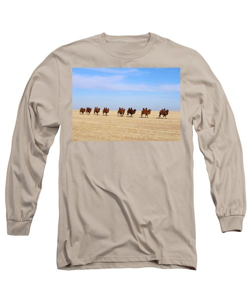 Gobi Camels Long Sleeve T-Shirt by Diane Height