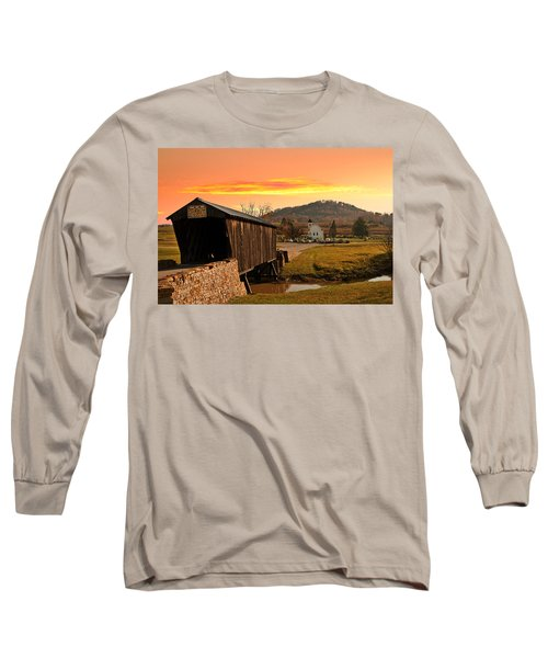 Goddard White Bridge And Church  Long Sleeve T-Shirt