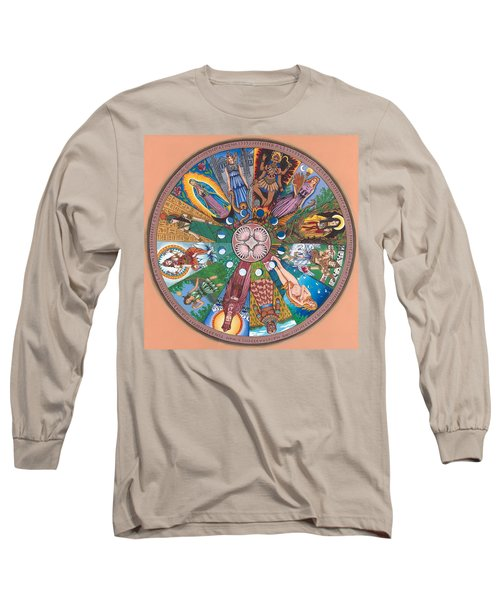 Goddess Wheel Guadalupe Long Sleeve T-Shirt
