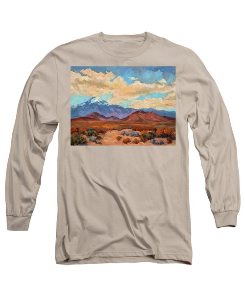 God's Creation Mt. San Gorgonio  Long Sleeve T-Shirt by Diane McClary