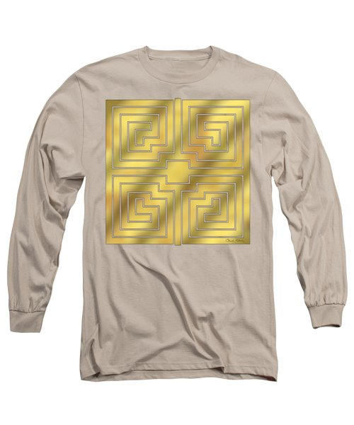 Gold Geo 4 - Chuck Staley Design  Long Sleeve T-Shirt