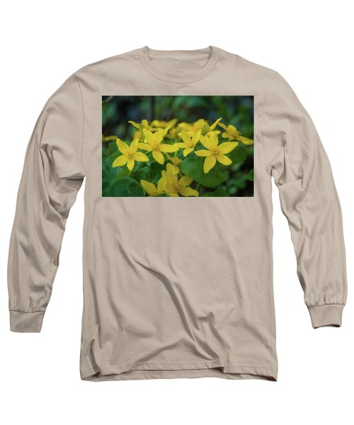Long Sleeve T-Shirt featuring the photograph Gold In The Marsh by Bill Pevlor