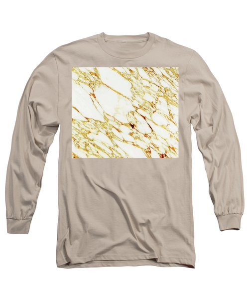Gold Marble Long Sleeve T-Shirt