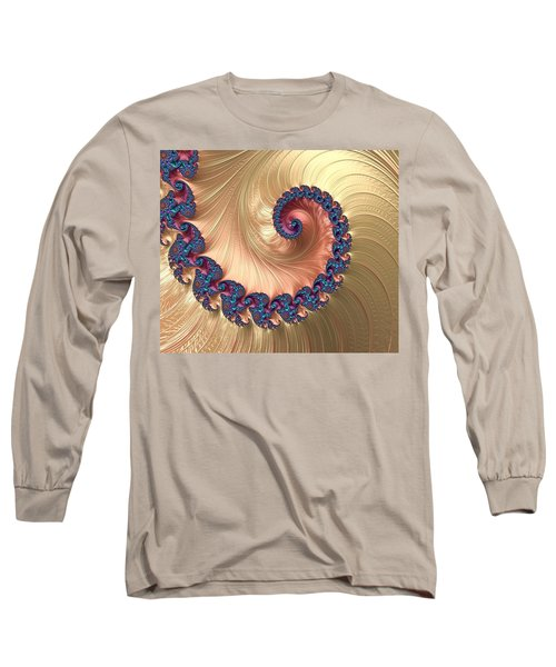 Gold Spiral With Passion Abstract Long Sleeve T-Shirt