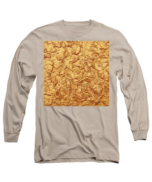 Gold Waves Long Sleeve T-Shirt by Alan Casadei