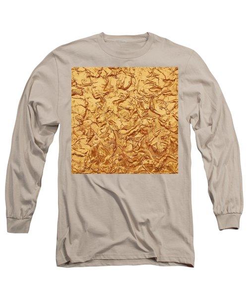 Gold Waves Long Sleeve T-Shirt