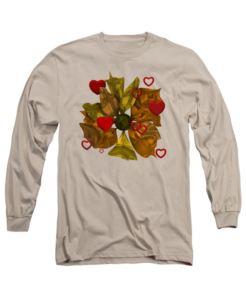 Golde Flower With Love Long Sleeve T-Shirt
