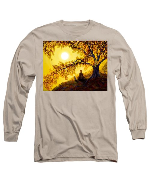 Golden Afternoon Meditation Long Sleeve T-Shirt by Laura Iverson