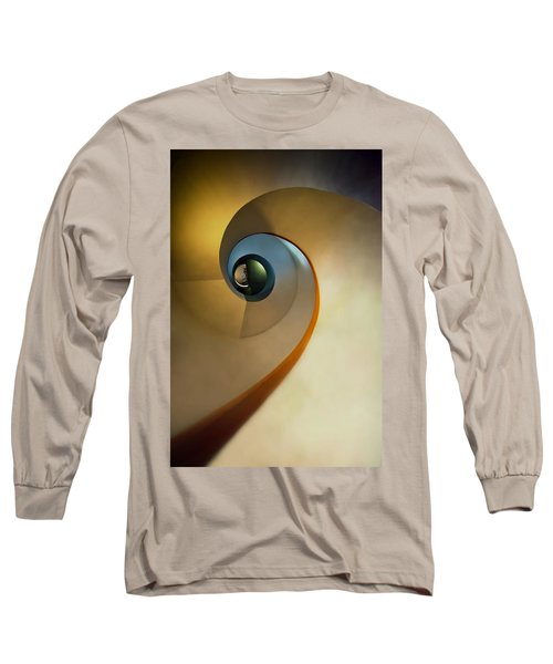 Golden And Brown Spiral Staircase Long Sleeve T-Shirt