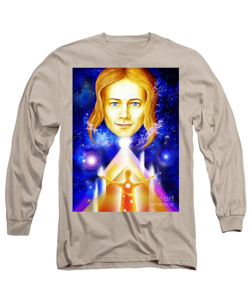 Long Sleeve T-Shirt featuring the painting Golden Angel by Hartmut Jager