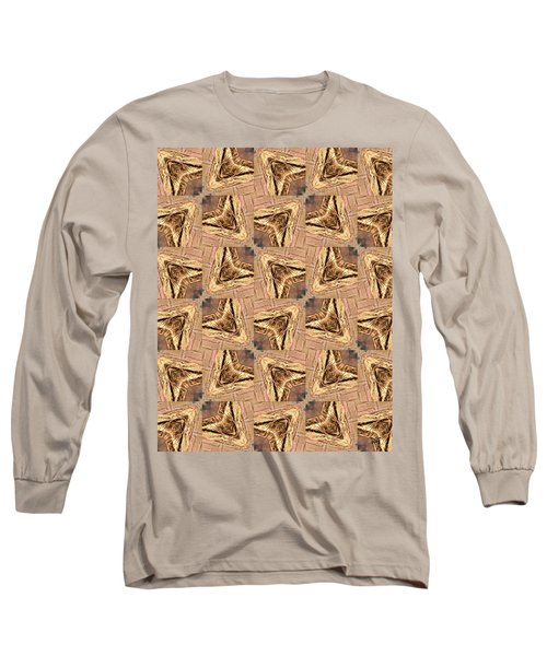 Golden Arrowheads Long Sleeve T-Shirt by Maria Watt