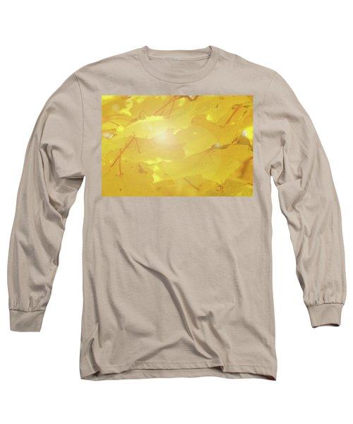 Golden Autumn Leaves Long Sleeve T-Shirt