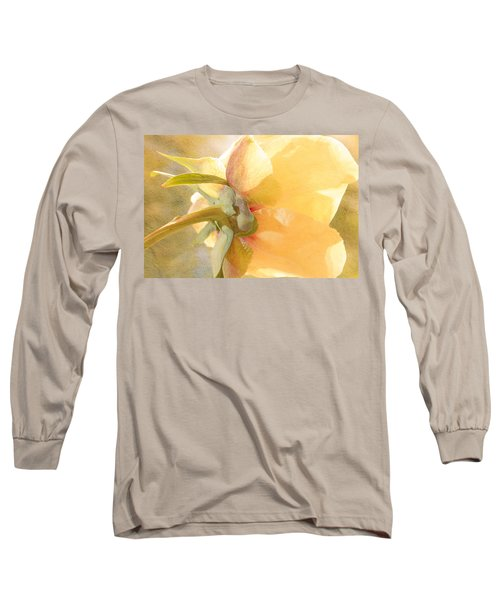 Golden Bowl Tree Peony Bloom - Back Long Sleeve T-Shirt