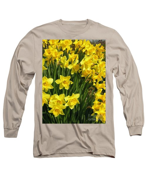 Long Sleeve T-Shirt featuring the photograph Golden Daffodils by Phil Banks