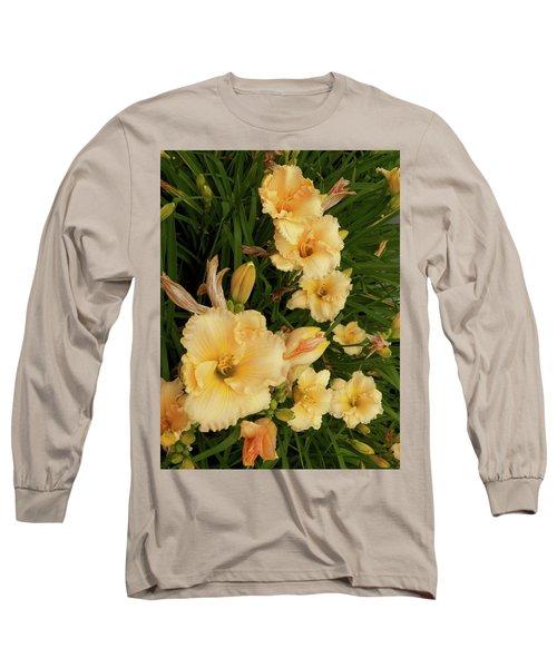 Golden Day Lilies Long Sleeve T-Shirt