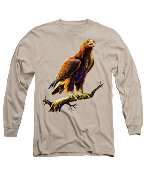 Golden Eagle Long Sleeve T-Shirt by Anthony Mwangi