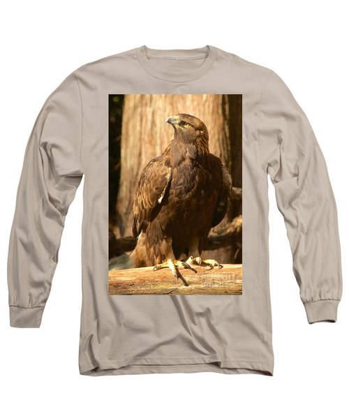 Golden Eagle Long Sleeve T-Shirt by Sean Griffin