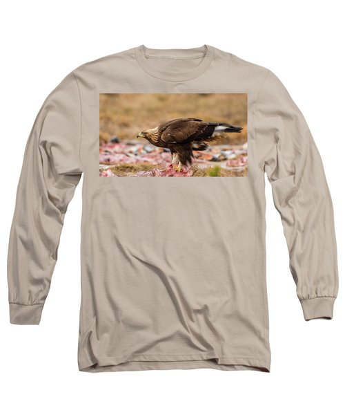 Golden Eagle's Profile Long Sleeve T-Shirt by Torbjorn Swenelius