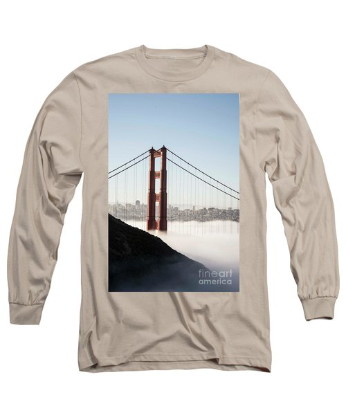 Long Sleeve T-Shirt featuring the photograph Golden Gate And Marin Highlands by David Bearden