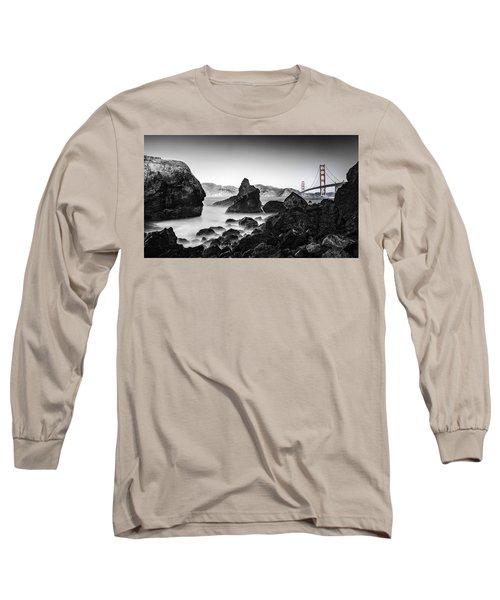 Long Sleeve T-Shirt featuring the photograph Golden Gate Colour by Chris Cousins