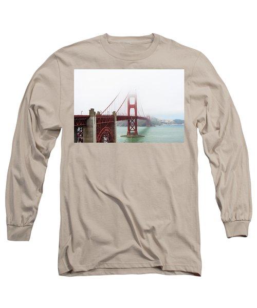 Golden Gate In The Fog Long Sleeve T-Shirt