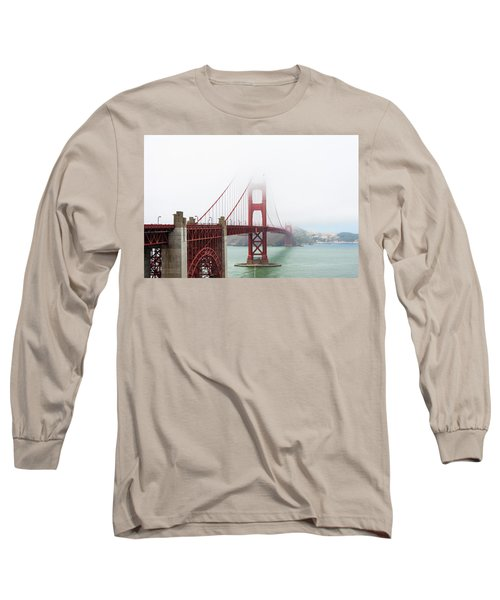 Golden Gate In The Fog Long Sleeve T-Shirt