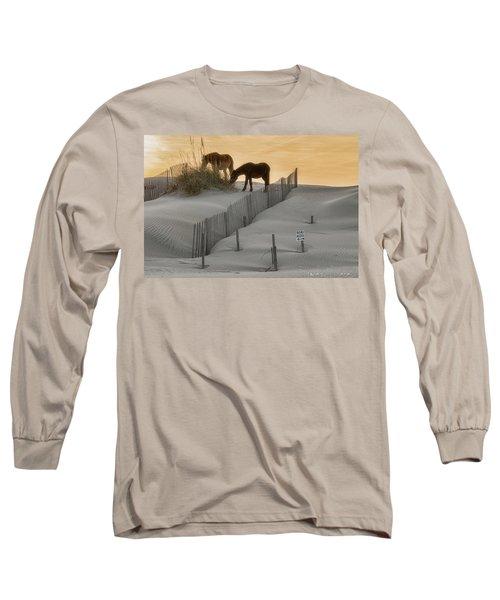 Golden Horses Long Sleeve T-Shirt