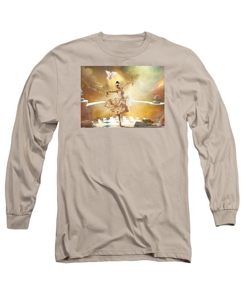 Golden Moments Long Sleeve T-Shirt by Dolores Develde