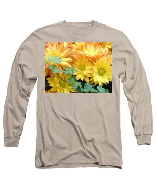 Golden Mums And Ivy Long Sleeve T-Shirt
