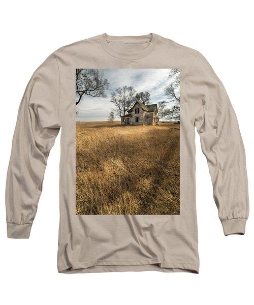 Golden Prairie  Long Sleeve T-Shirt by Aaron J Groen