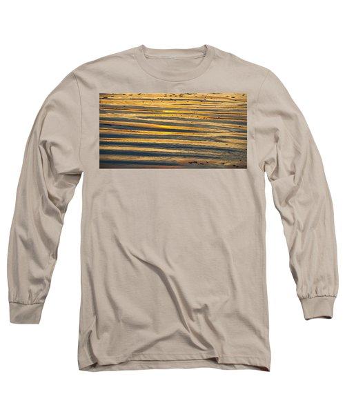 Golden Sand On Beach Long Sleeve T-Shirt