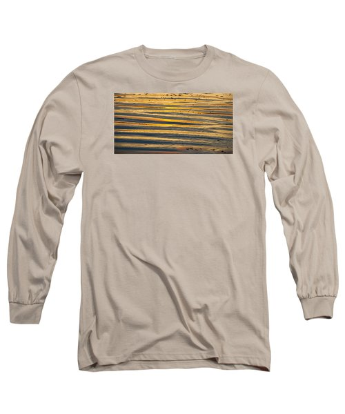 Golden Sand On Beach Long Sleeve T-Shirt
