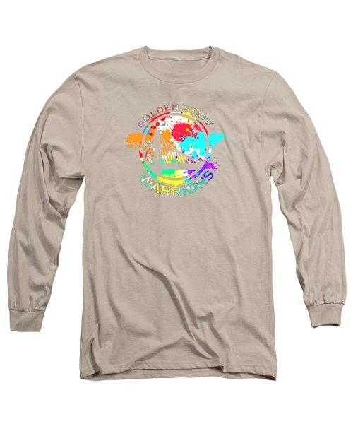 Golden State Warriors Pop Art Long Sleeve T-Shirt