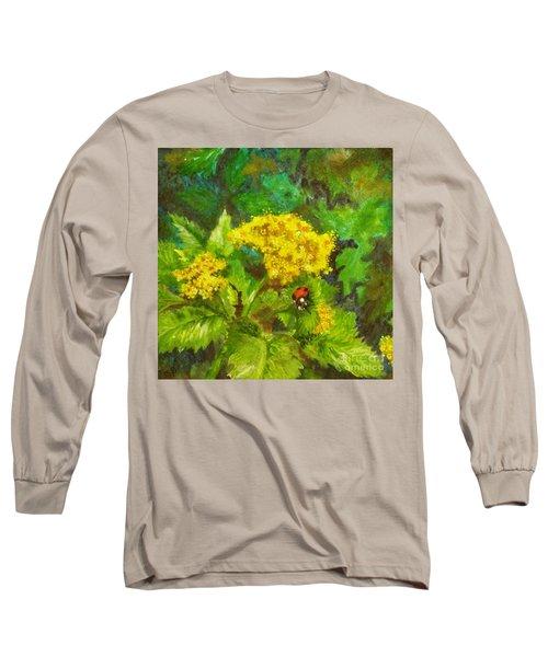 Golden Summer Blooms Long Sleeve T-Shirt